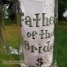 Father of the Bride Hand Painted Beer Mug