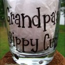 Grandpa's Sippy Cup Hand Painted Lowball Glass