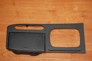 98-02 Honda Accord Shiifter Bezel Cupholder Black