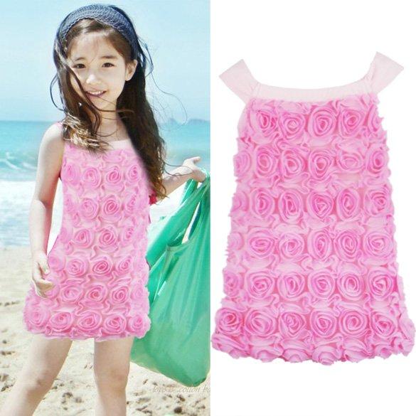 Size 90 - Lovely Three-Dimensional Flower Princess Dress