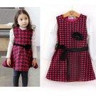 Size 120 Red - Girls' Long Sleeve Dress