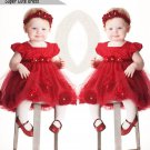 Size 100 - Toddler Party Flower Dress With Headband