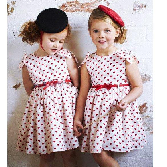Size 130 - Girls Lovely Heart-Shaped Dress