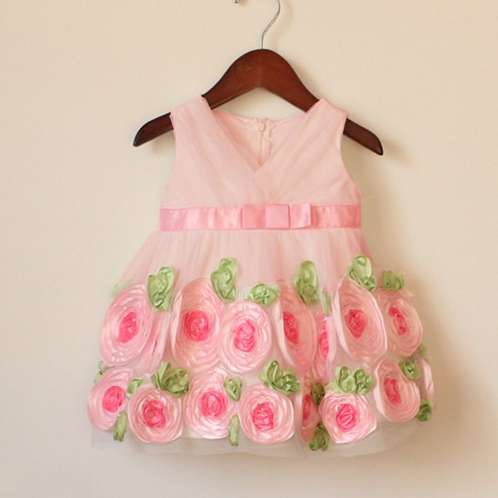 Size 80 Pink - Summer Princess Roses Tulle Dress