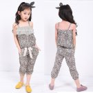 Size 120 - Girl's Strap Top + Shorts Sets for Summer