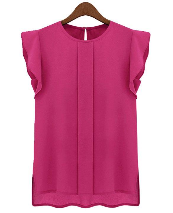 Size Asian L (US M(8-10) ,UK 10, AU 12) - Candy Color Women's Chiffon Blouse