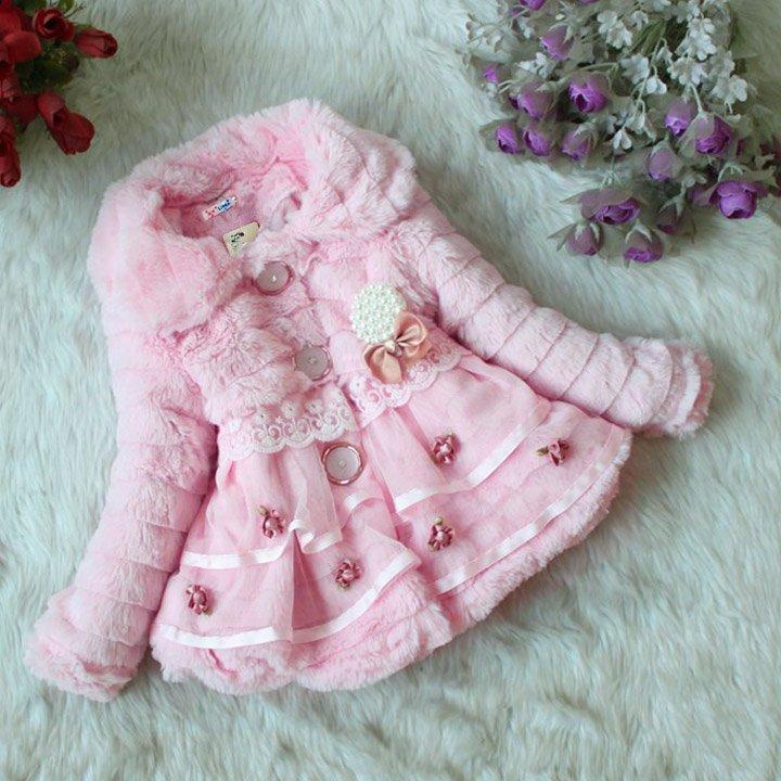 Size 6 Pink - Girls Junoesque Baby Faux Fur Coat