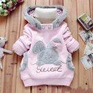 Size 130 Pink - Children Fashion Fleece Sweater