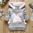 Size 100 Grey - Children Fashion Fleece Sweater