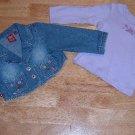Girls 12 month NWOT 2 piece Bongo set