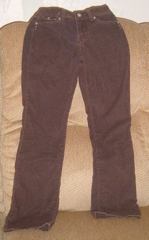 Girls size 10 slim JUSTICE brown pants