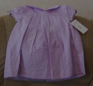 NEW 6 month Purple and dots dress