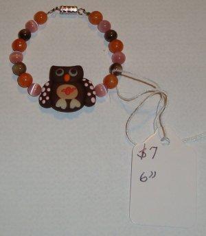 """Handmade Owl Bracelet 6"""""""