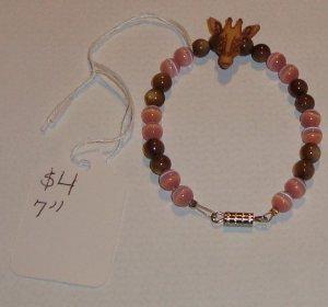 """Handmade 7"""" Giraffe bracelet"""