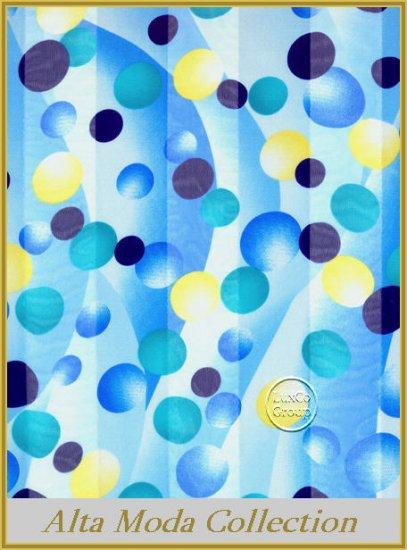 Blue Bubbles Satin Scarf