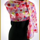 Pink Multi Satin Scarf