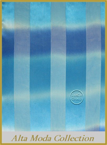 Blue Pin Stripe Satin Scarf