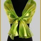 Green Satin Scarf
