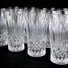 Vintage Highball Drink Glasses in the Bennington Pattern by Fostoria 24% Lead Crystal-Set of 8