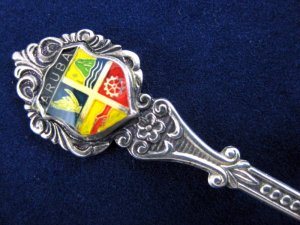Collectible Vintage Aruba Souvenir Enamel Spoon