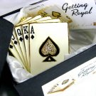 "Objet d'Art Art Form Collectible ""Getting Royal"" Poker Royal Flush Jeweled Enamel Trinket Box"