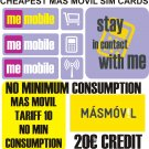 Pre paid pay as you go 3G sim card for Spain