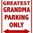 World's Greatest Grandma Metal Parking Sign Made n USA
