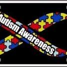 Autism Awareness Ribbon Metal  Car Van Tag Plate