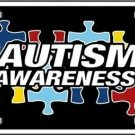 Autism Awareness Ribbon Puzzle Pieces Metal License Car Van Tag Plate