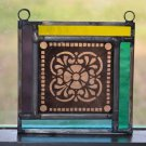 Stained Glass Mini Window Panel-Champagne