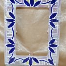Mosaic Photo Frame - Blue and White Iridescent Glass