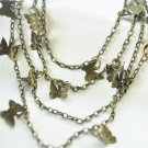 Vintage reproduction butterfly necklace multistrand