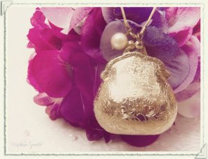 Little Brass Purse Locket Necklace
