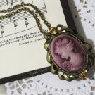 Victorian Lady Cameo Necklace with Swarovski Crystal