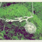 Handmade Silver Wire Wrapped Bird Nest Necklace