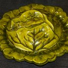 Green Cabbage Leaf Plate w/ Covered Lid 8.5""