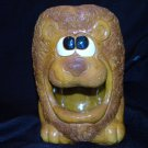 "Lion Cookie Jar  Roaring in Sneakers 9"" Vintage"