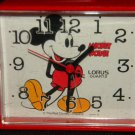 Disney Red Mickey Mouse Alarm Clock 3.5&quot; Vintage?