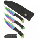 6&quot; Spectrum Throwing Knife Set w/ Sheath - 3 Piece