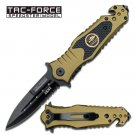"7.9"" Spring Assisted Army Rescue Knife by Tac-Force"