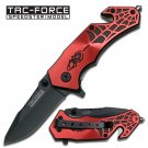 "8.25"" Spring Assisted Red Spider Rescue Knife by Tac-Force"