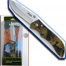 "8.25"" JEEP Camouflage Silver Blade Folding Knife"