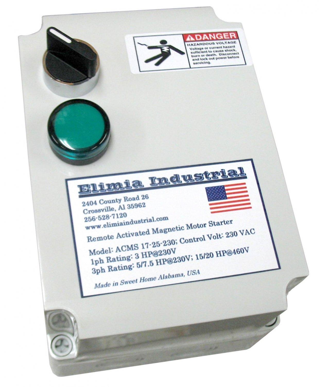 Elimia acms 5 5 8 480lc air compressor motor starter 5 hp for 3 hp air compressor motor