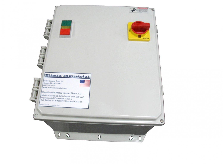 Elimia Combination Motor Starter, 5 HP, 480V, Nema 4X w/ Disconnect