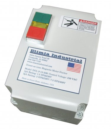 Elimia DOL 9-13-230LC Magnetic Latch Motor Starter 3 HP 3 PH Nema 4X