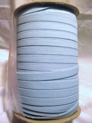 144 yds Light Blue Edge Looped Braided Elastic