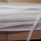 "30 Yards of Narrow 7/16"" White Edging Trim Great for Dolls Crafts Bears"