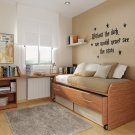 Without the dark vinyl wall decal