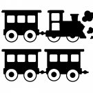 Train for childs room vinyl wall decal