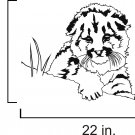 Tiger cub in grass vinyl wall decal